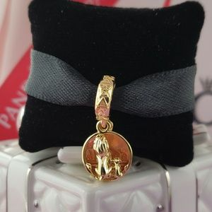 Pandora Shine Disney Simba & Mufasa Dangle Charm